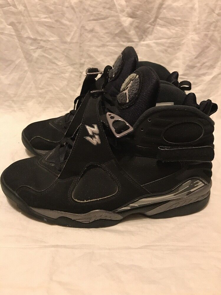 wholesale dealer 2c863 0cec2 NIKE AIR JORDAN VIII 8 RETRO RETRO RETRO BLACK CHROME 305381 003 SIZE 11.5  7820d5