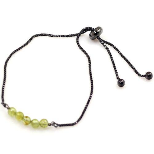 Elegant Women Party Jewelry Alloy Gemstone Adjustable Chain Bracelet Gemstones