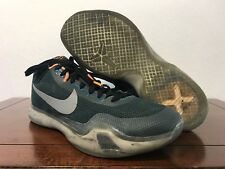 "9eecc57586c item 5 Nike Kobe X 10 "" FLIGHT"" Teal Black Orange Sneaker Shoes 705317-308  Size 14 -Nike Kobe X 10 "" FLIGHT"" Teal Black Orange Sneaker Shoes 705317-308  Size ..."