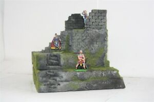 Festungsmauer-Ruine-4000-zu-7cm-Elastolin-u-a-Fertigmodell-in-Composite