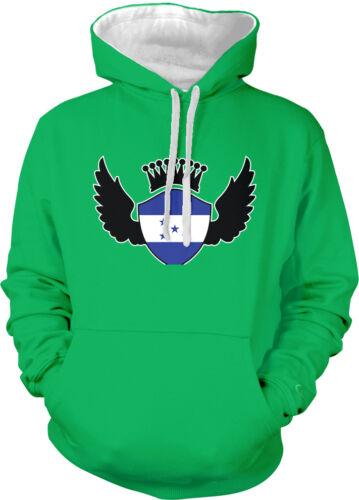 Honduras Flag Shield Crown Wings Honduran Pride Olympics 2-tone Hoodie Pullover