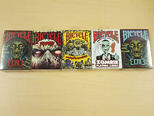 Set of 5 Bicycle Playing Card Decks Zombie Haloween New Sealed