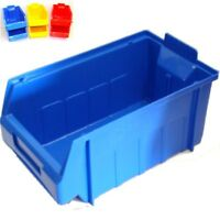 Open Fronted Storage Bins Plastic Parts Picking Bins Stackable Colour Choice