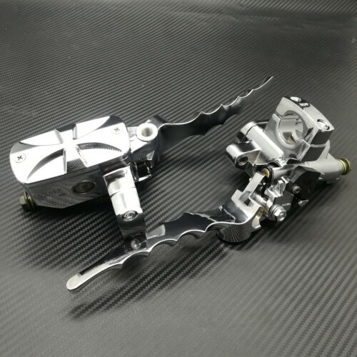 "1/"" Chrome Cross Hand Control Reservoir 14mm Bore Brake Clutch Levers For Honda"
