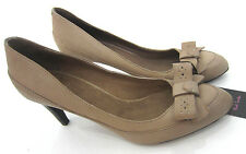 Paul Smith Court Shoes Taupe Leather with Bow front detail UK6 EU39 RRP £270