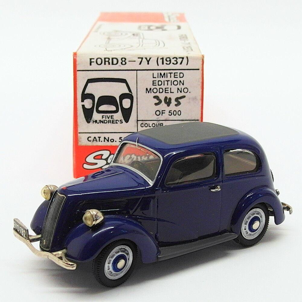 Somerville Models  Scale Model Car 503 - 1937 Ford 8-7Y - Azul