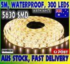 Waterproof Warm White DC 12V 5M 5630 SMD 300 Leds LED Strip Lights Car Caravan