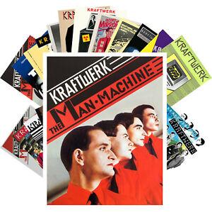 Postcards-Pack-24-cards-Kraftwerk-Electronic-Music-Vintage-Posters-Cover-CC1261