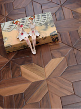 Walnut Wood Flooring Tile Art Deco Hardwood flooring Wallpaper Woodworking Board