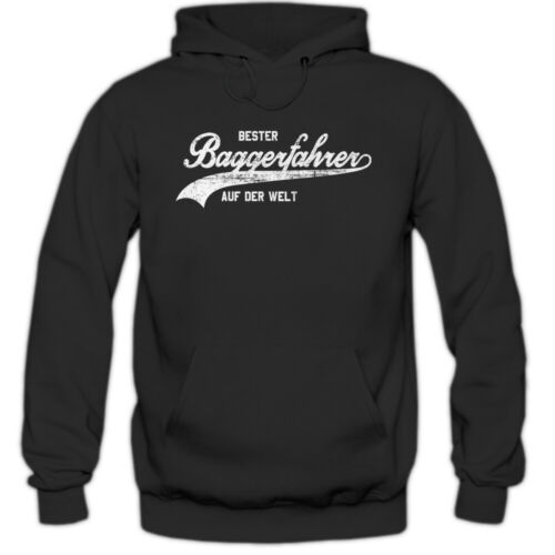 Baggerfahrer #1 Hoodie Berufe-Hoodie Traumberuf Bester Baggerfahrer Herren Kapuz