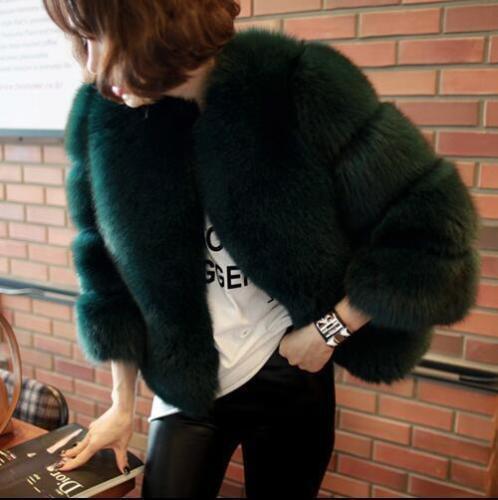 de Parkas court pour renard Hiver en Épaissir femme Slim Manteau Outwear fourrure Vestes Chaud SO4wOx