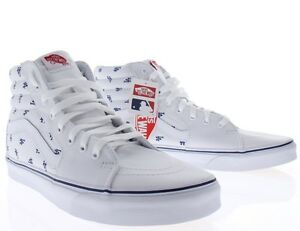 30fc3f66b3 Image is loading Vans-SK8-Hi-MLB-Los-Angeles-Dodgers-White-