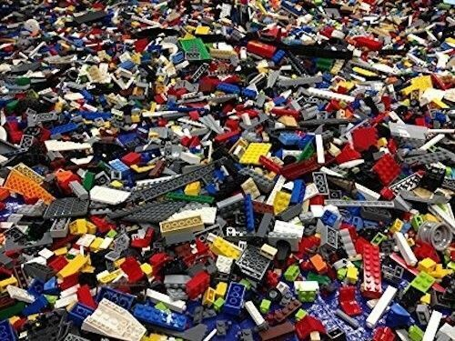 1 KG of Mixed Bulk LEGO Parts 2.2 Pounds