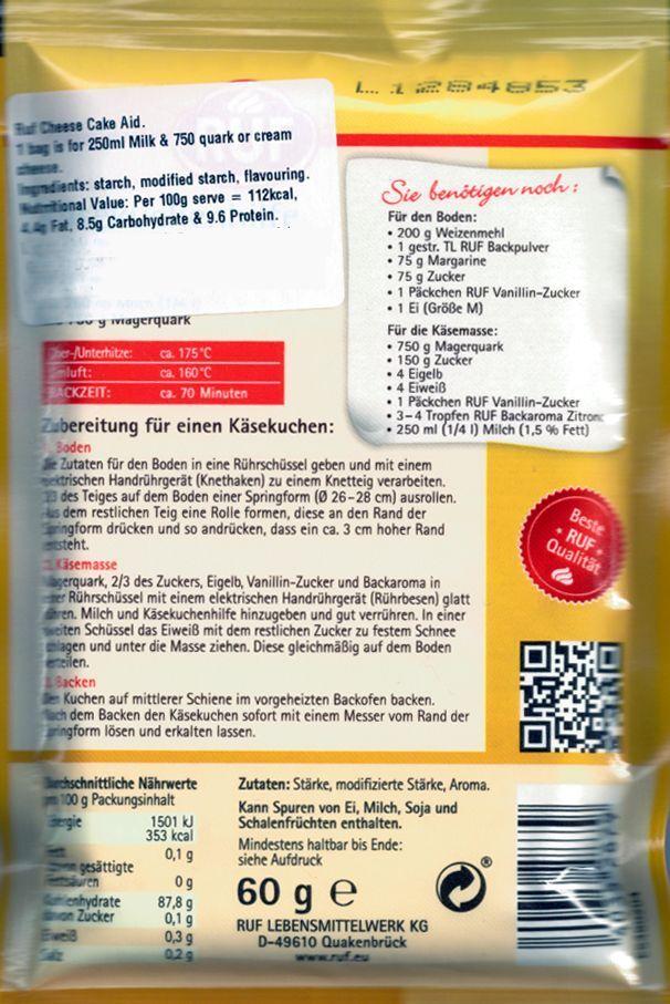 Ruf Kasekuchen Hilfe Cheese Cake Aid 60g Cheesecake Help For Sale