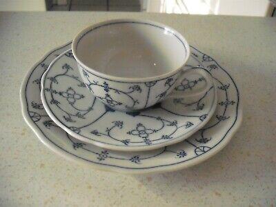 Teetasse mit Unterteller BonApart mit Indisch Blau Strohblume Dekor