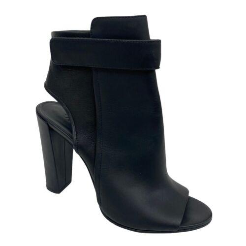 Vince Bringham High Heel Ankle Boots 8 Black Leath