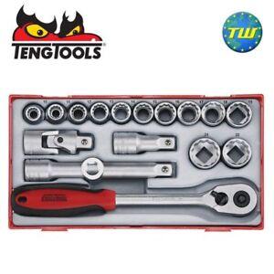 Teng-17pc-Reg-Metric-Socket-Set-1-2-034-Drive-TT1218-Tool-Control-System