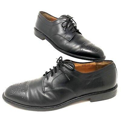 4a446cfe39b8c Details about Salvatore Ferragamo Studio Italy Men's Black Leather Lace Up Dress  Shoes 11 D