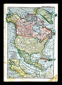 Map Of America 1900.1900 Mathews Northrup Map North America United States Canada Mexico