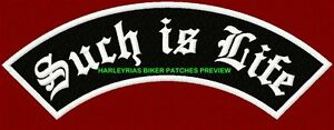 034-SUCH-IS-LIFE-034-250mm-BIKER-ROCKER-PATCH