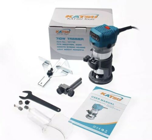 """KATSU 3//8/"""" /& 1//4/"""" Electric Hand Trimmer Wood Laminator Router Joiners Tool 220V"""