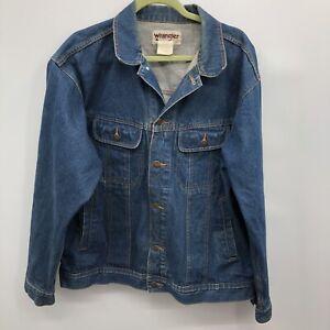 Vintage Wrangler Trucker Denim Jacket Sz XL - Has Imperfection On Back