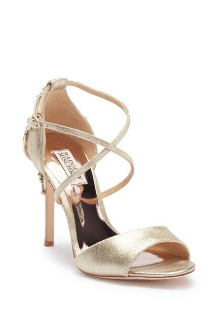 NIB Badgley Mischka Karmen Crystal Back Sandal 8  245