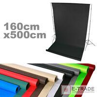 Profi Hintergrund 160cm Breit 5m Lang / 11 Farben! mit Papprolle FOTOHINTERGRUND