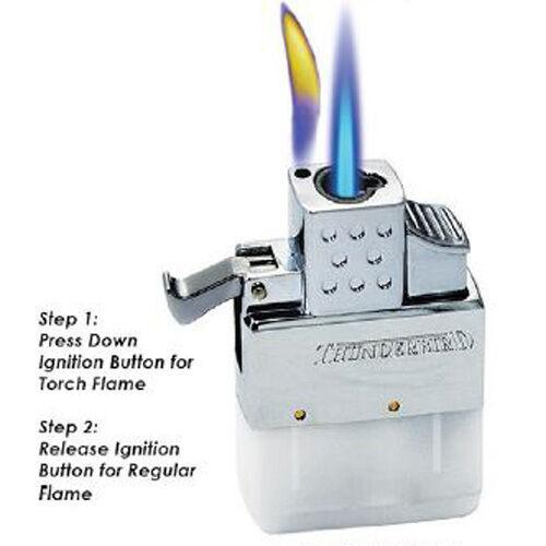 KGM Vector Multi Flame Flip Top Regular Torch Butane Lighter Insert