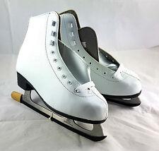 Nijdam Damen Schlittschuhe Eiskunstlauf, Weiß, Größe 39, 1004459 *NEU*