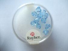 Rayher Swarovski Kristall-Schliffperlen 12 Stück 6 mm azurblau Bastelperlen