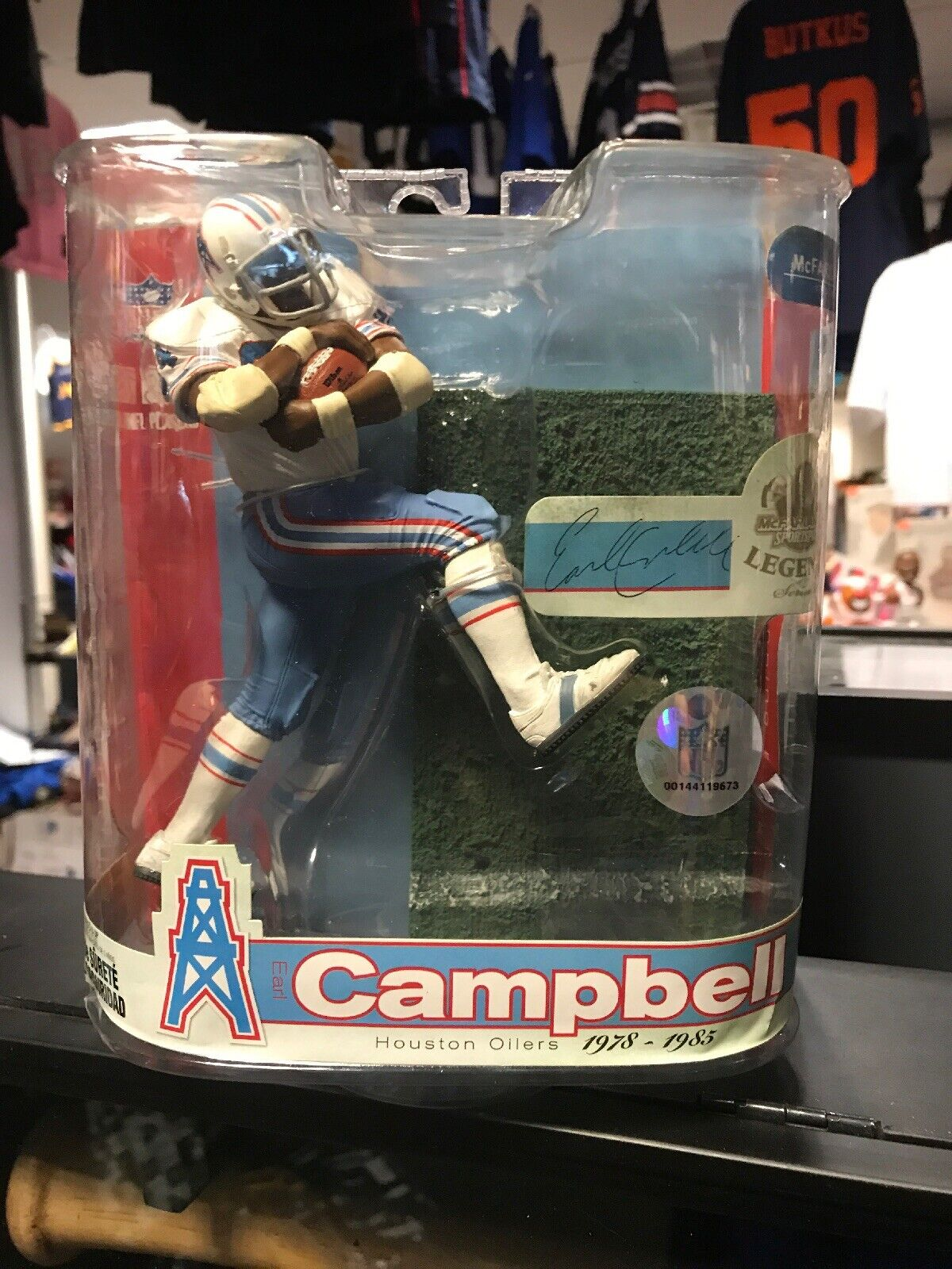 EARL CAMPBELL NFL Legends 3  Weiß Jersey Variant Chase Houston Oilers Figure NM