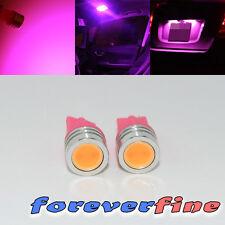 Reverse 1 Watt LED Pink License Plate/Dome Light Bulb 2 pc 194/168/T10/184 SMD