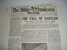 "1917 Bible Students Monthly ""Fall of Babylon"" Watchtower IBSA Jehovah"