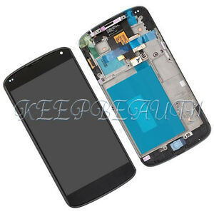 New-Touch-Digitizer-LCD-Display-Frame-Assembly-For-LG-E960-Google-Nexus-4-TN