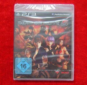 Dead-or-Alive-5-PS3-PlayStation-3-Spiel-Neu-deutsche-Version