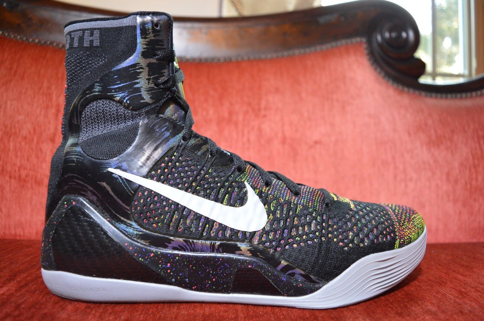 CLEAN Nike Air Kobe 9 IX Elite Master Piece Multi Color Sneakers Men's Size 11.5