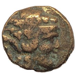 Ancient-Greek-Zeus-Bronze-Coin-Authentic-Artifact-Token-Empire-Old-Antiquity-A29