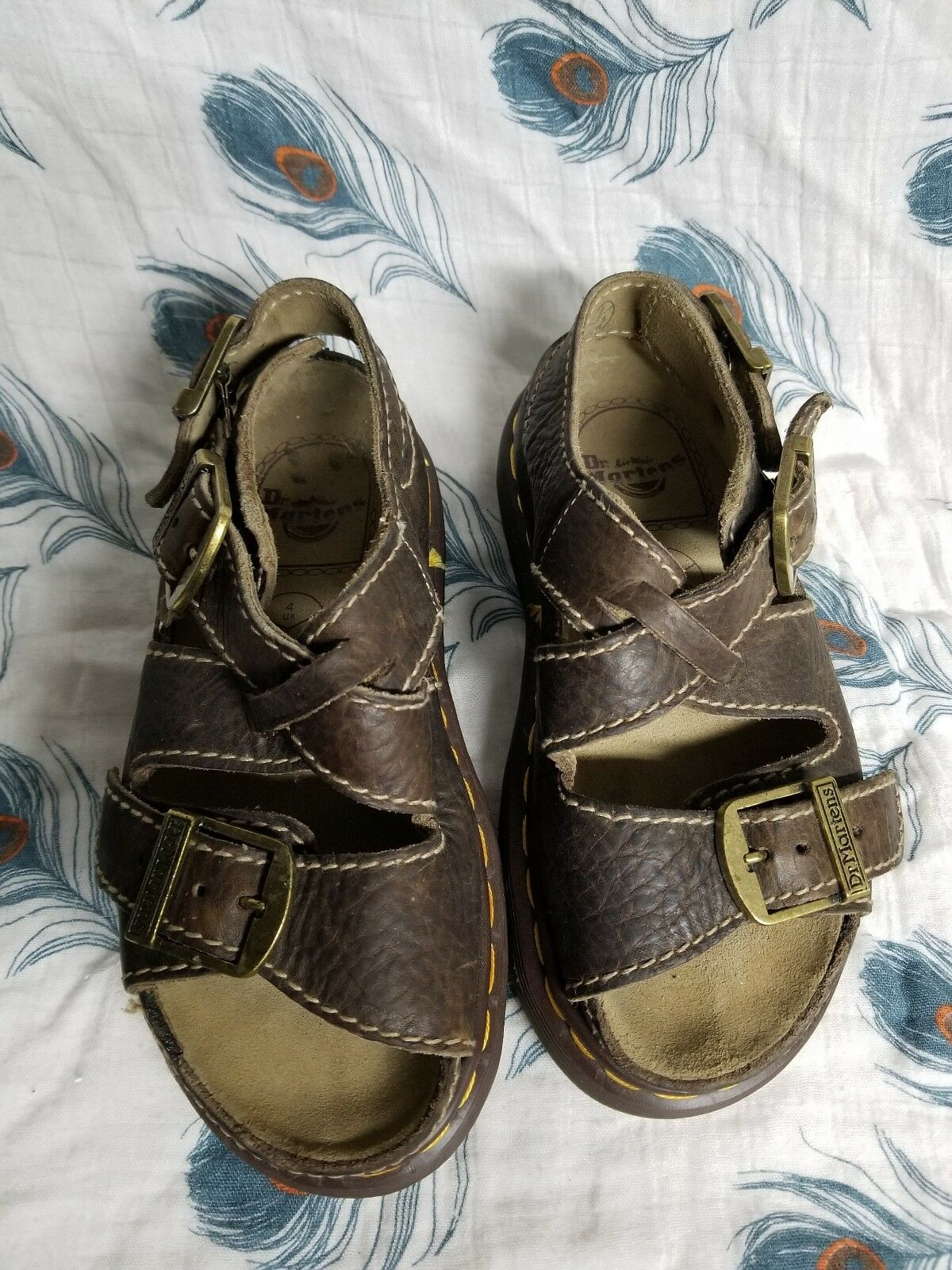 Dr Martens Brown Strappy Brown Chunky Sole Size Us 5