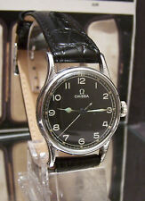 RARE VINTAGE 1943 BLACK  DIAL OMEGA RAF PILOTS WW2 BRITISH MILITARY WATCH
