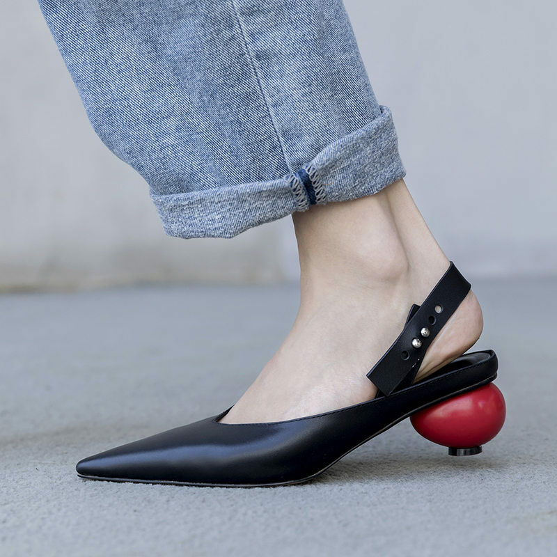 Wouomo Genuine Leather Pointy Toe Pumps Oxfords Mid Heel Party Mary Janes stivali