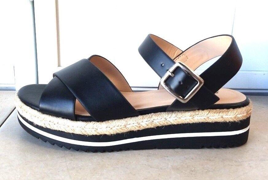 Espadrille Jute Platform Ankle Natural Strap Sandal Black Natural Ankle shoes a0d111