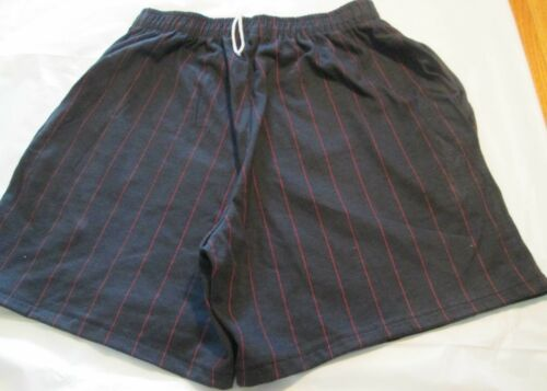 Men/'s Short XL Black with Red Stripe 2 pocket 50 Cotton//50 Polyester