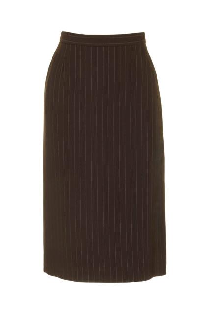 Busy Womens Brown Pinstripe Pencil Skirt