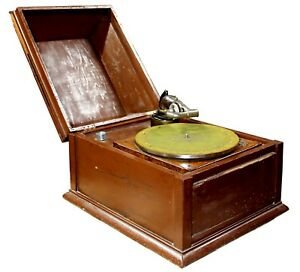 Antique-Early-20th-Century-Phonograph-amp-Talking-Machine-Hand-Finished-Box