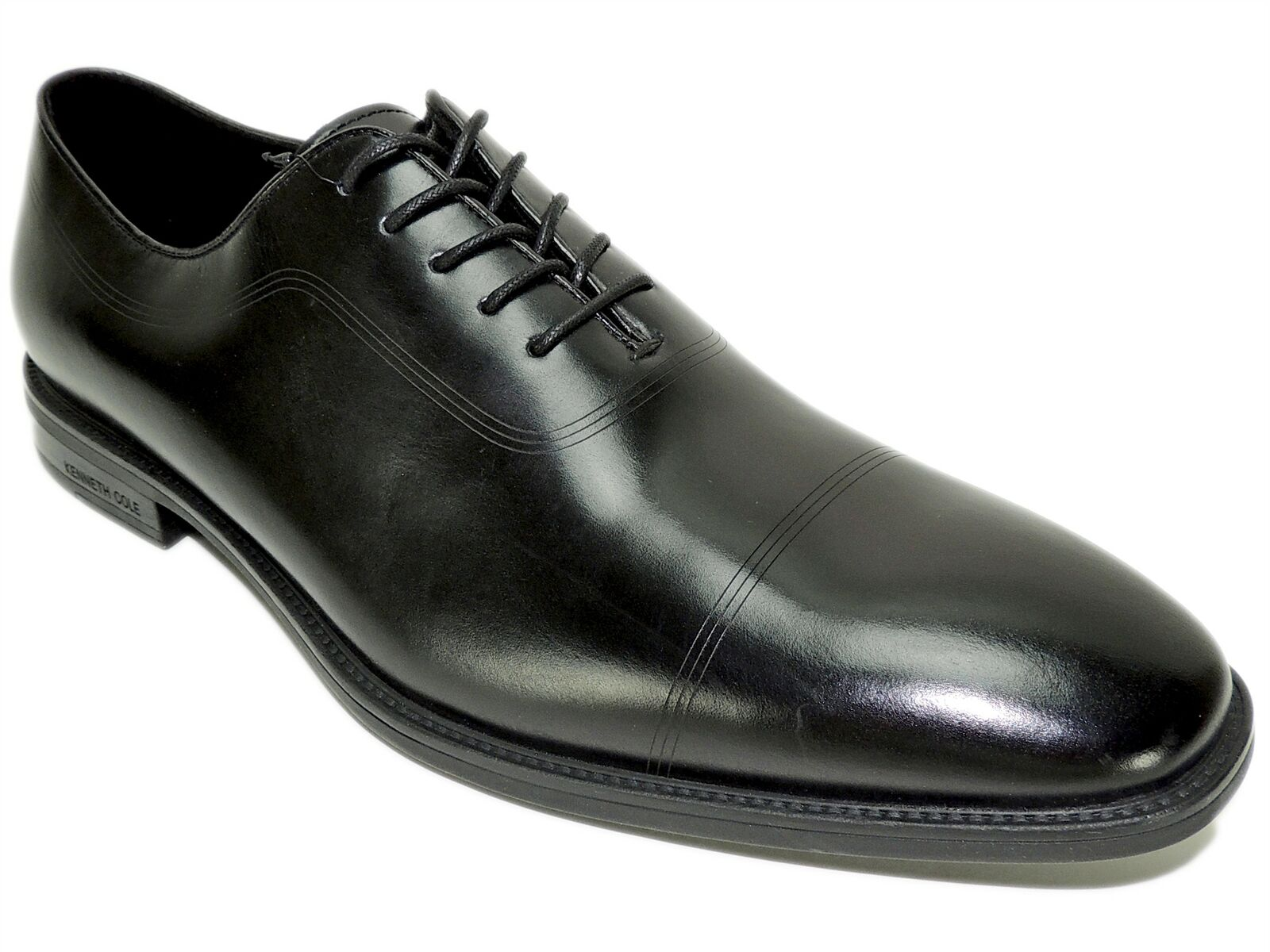 Kenneth Cole New York Men's Ticketpod Lace-Up B Oxfords Black Leather Size 9 M
