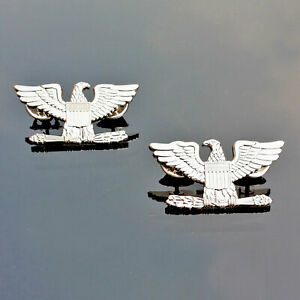 PAIR-United-States-U-S-Army-Colonel-shoulder-strap-rank-insignia-Badge-Pins