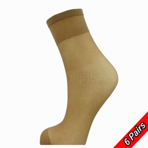 TROUSER POP SOCKS  SIZE 4-7 Comfort Top 24 PAIRS 15 DENIER LADIES KNEE HIGHS
