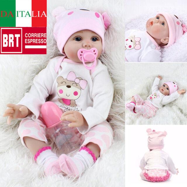 Realistic Reborn Baby 55CM Dolls Handmade Newborn Vinyl Silicone Girl Doll Xmas