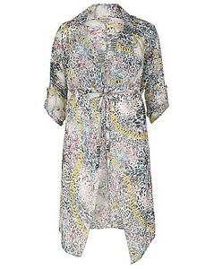 6a221520b5 New Simply Be Emily Beach Cover Up Kimono Duster Coat Plus Size 16 ...